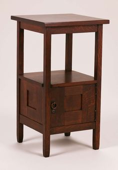 Stickley Brothers nightstand with one door.  Unsigned.  Very nicely refinished.