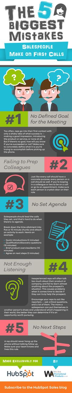 5 Deal-Killing Mistakes Sales Reps Make on First Calls [Infographic]