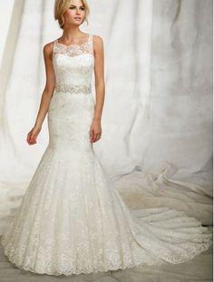 pretty mermaid dress! I really like the sheer lace details on top. I like the details on the back too