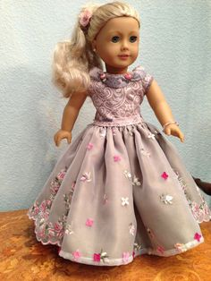 by SmallWorldCouture on Etsy My American Girl Doll, American Doll Clothes, Ag Doll Clothes, Doll Clothes Patterns, Girls Fancy Dresses, Flower Girl Dresses, Doll Dresses, Thing 1, Couture Collection