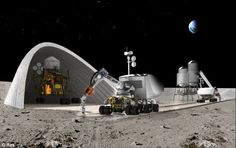 NASA's plan to build homes on the Moon: Space agency backs 3D print technology which could build base