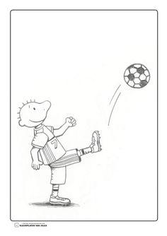 Jules voetbalt