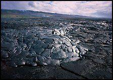 Freshly cooled lava on plain. Hawaii Volcanoes National Park