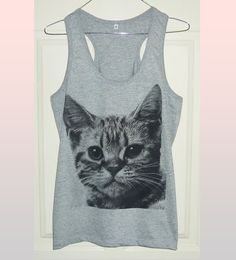 Kitten Meow shirt Cute clothes Cat tank top by WorkoutShirts Outfits For Teens, Cool Outfits, Kitten Meowing, Cute Tank Tops, Only Fashion, Shirt Outfit, Casual, Shirts, Clothes