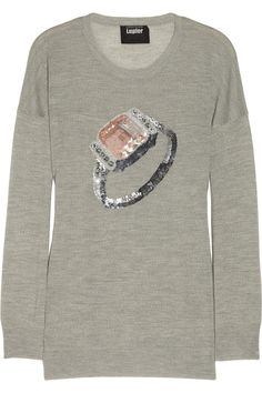 Wear this while being with your bf and he will definitely get the hint :D  Markus Lupfer Embellished merino wool sweater NET-A-PORTER.COM