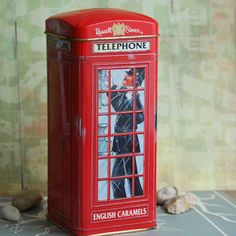 ENGLISH PHONE BOOTH...  piggybank.... vintage metal by CoolVintage, $24.50
