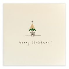 Pencil Shavings Cards - Christmas Tree