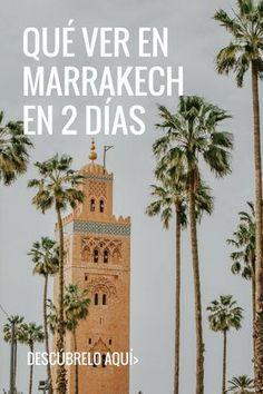 Descubre todo lo que puedes ver en Marrakech en 2 días. #Marrakech #Marruecos #viaje #viajar #itinerario Marrakech, Places To Travel, Places To Go, Eurotrip, Travel Tips, Africa, Journey, Europe, Trips