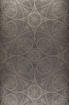 £50.43 Price per roll (per m2 £9.70), Glamorous wallpaper, Carrier material: Non-woven wallpaper, Surface: Smooth, Look: Shimmering pattern, Matt base surface, Design: Floral damask, Geometrical elements, Basic colour: Grey brown, Pattern colour: Pearl beige, Characteristics: Good lightfastness, Low flammability, Strippable, Paste the wall, Wash-resistant