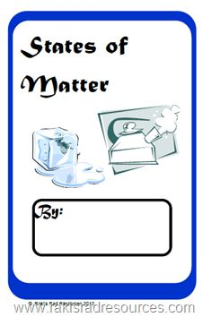 States of Matter - Solids, Liquids, Gasses - Free Printable Student Booklet