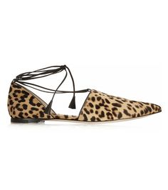 Leopard Pointed Toe Flats via @WhoWhatWear