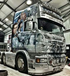 C Custom Car Paint Jobs, Truck Paint Jobs, Custom Vans, Train Truck, Road Train, Customised Trucks, Custom Trucks, Old Trucks, Pickup Trucks