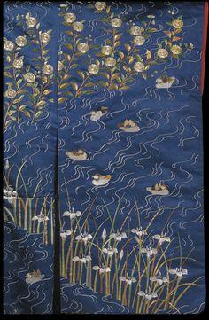 Japan, kimono, Japan (made) 1820-1860 (made), Satin silk with embroidery in silk and metallic thread