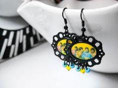 The Beatles Srg. Pepper Earrings by Vantasia on Etsy, $14.00