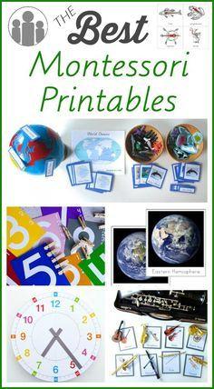 imprimables pour Montessori