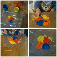 Employment for toddlers – Reges Leben - DIY Crafts for Kids Painting For Kids, Games For Kids, Kid Games, Diy Crafts For Kids, Educational Toys, Free Games, Baby Photos, Baby Kids, Baby Baby
