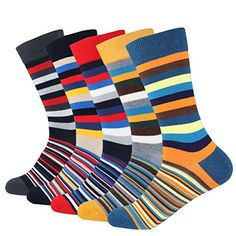 Men's 5-pair Funky Striped Pattern Colorful Casual Cotton... https://www.amazon.com/dp/B07427STJ5/ref=cm_sw_r_pi_dp_U_x_6EqaBbR3GE2TZ