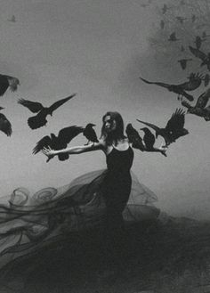 Ravens symbolize the veil between the world of the living and the dead. My spirit guide is a raven gothic messenger of the gods beautiful art photography Dark Beauty, Art Noir, Yennefer Of Vengerberg, Arte Obscura, Arte Horror, Dark Photography, Beauty Photography, Wedding Photography, Foto Art