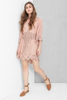 vestido fada bordado