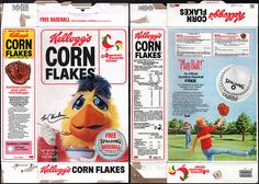 kelloggs cereal boxes | Kelloggs Corn Flakes cereal box - San Diego Chicken - Free Spaulding ...