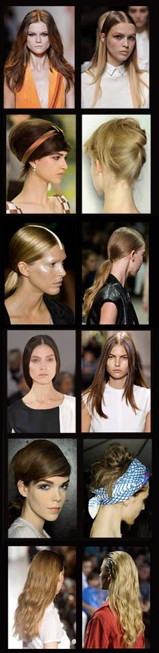 It's happening already! Try these SPRING 2013 trends to get ahead of the game. We are talking about simple and straight, structured up-dos and styles with double texture! What are your initial thoughts? We are so excited to see what else we can come up with!