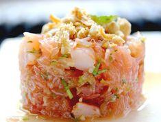 Salade thaïe de pamplemousse & crevettes Salade thy pamplemousse Ceviche, Healthy Snacks, Healthy Recipes, Seafood Appetizers, Asian Recipes, Ethnic Recipes, Shrimp Salad, Entrees, Cravings