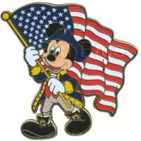 Pin 83710 Mickey Mouse with American Flag