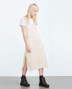 Image 1 of DENIM PINAFORE DRESS from Zara