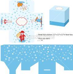 Box Templates Free | Christmas Gift box template | Stock Vector © Inna Ogando #7335197