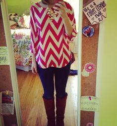 Chevron, boots, bubble necklace - Pulitzer Princess