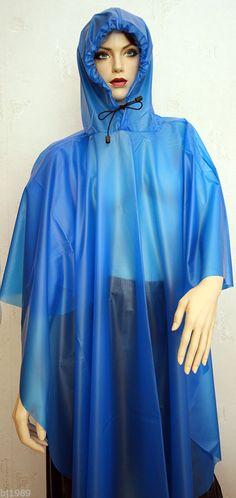 Cape Regencape Raincape Impermeable Poncho Pelerine transparent aus 100% PVC in…