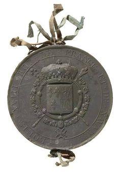Sceau du roi Louis XVIII
