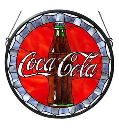 Coca Cola Stained Glass Panel