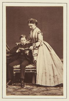 Princess Louise and Prince Leopold, 1866 [in Portraits of Royal Children Vol.10 1866-67] | Royal Collection Trust