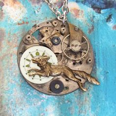 Fairytale Fox leaps into the Moon  glow in the by ClockworkZero