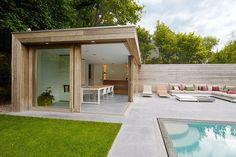 modern poolhouse in padoek   Bogarden #modernpoolcabana
