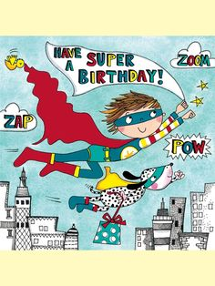 Super Hero Jigsaw Birthday Card