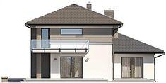 Projekt domu Karat 5 156,82 m2 - koszt budowy - EXTRADOM Modern Family House, Duplex Design, Construction, Bungalow, Gazebo, New Homes, Outdoor Structures, House Styles, Outdoor Decor