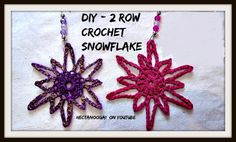 FREE CROCHET PATTERN, 2 steps CROCHET SNOWFLAKE, Christmas ornament, Tree ornament, so easy, it crazy!  Perfect for making by the dozen and giving as gifts to newly marrieds, friends, teachers, and hostess gifts!  See the instructions here, https://www.youtube.com/watch?v=yIe-QIP28t0 and get the link for the FREE WRITTEN PATTERN below the video.