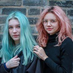 Blue Hair, Pink Hair, Hair Inspo, Hair Inspiration, Pelo Multicolor, Corte Y Color, Coloured Hair, Dye My Hair, Grunge Hair