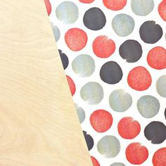 Watercolor Dots - Red, White + Grey Stone Wrap | BeckyHiggins.com