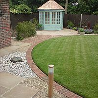 Edging idea and landscaping design.
