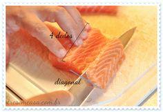 como fazer nigiri de salmão