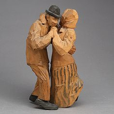 A Dancing Couple, carved by Axel Petersson.
