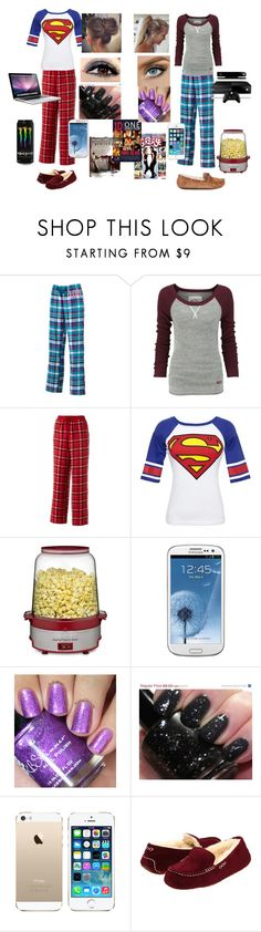 """""""Sleepover with your best friend! (;"""" by hollabooboo ❤ liked on Polyvore featuring SO, Superdry, Croft & Barrow, Bioworld, Cuisinart, Samsung, MAC Cosmetics and UGG Australia"""