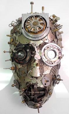 SHINER II Antique Pocket Watch Sculpture Assemblage by LTMiller11