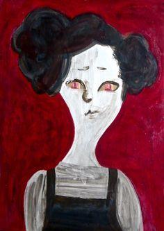 Carol #contemporaryart #pop #comic #modern #painting #portrait #catgirl #woman #zombie #expressionism