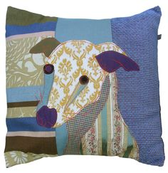 Dogs in Art at the StockBridge Gallery - Cushion - Flash the Whippet, �72.00 (http://www.dogsinart.com/cushion-flash-the-whippet/)