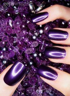 Pretty Purple Nails ღ