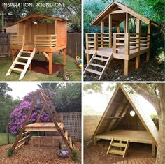 outdoor play area for kids forts Building Our Backyard Castle with Wood Naturally + Fort Roundup - Emily Henderson Backyard Fort, Backyard Playhouse, Backyard Playground, Backyard For Kids, Diy Backyard Projects, Desert Backyard, Backyard House, Playground Design, House Projects